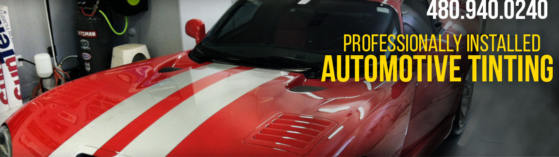 automotive professionally installed window tinting service, Arizona car tinting, (480) 940-0240