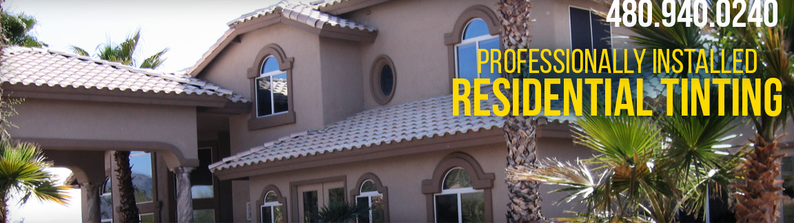 professionally installed residential window tinting